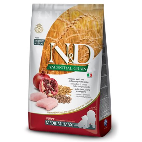 FARMINA N&D Ancestral Grain - CHICKEN & POMEGRANATE PUPPY  MEDIUM & MAXI  - 2,5kg