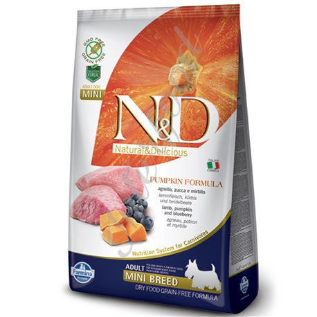 FARMINA N&D PUMPKIN - LAMB & BLUEBERRY ADULT MINI - 2,5kg 1