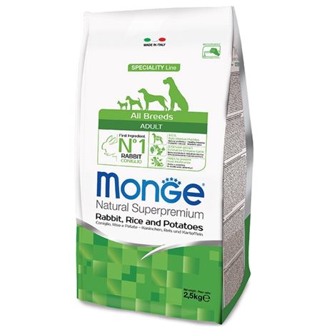 Monge SL All Breeds Coniglio, Riso e Patate 2,5kg 1