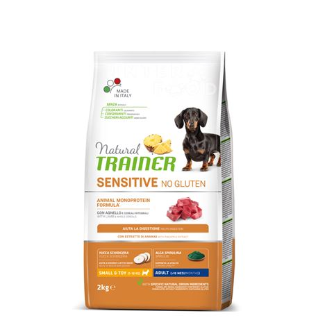 Natural TRAINER Sensitive No Gluten Mini Adult Agnello - 2kg