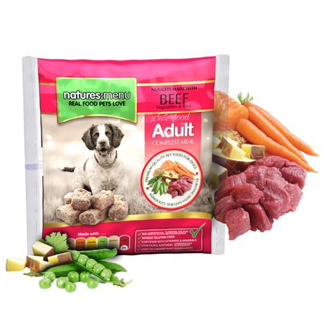 Natures:Menu Original Raw Nuggets Meals Beef - 1kg