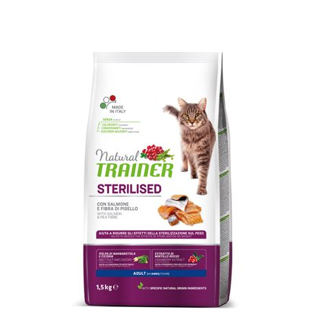Natural TRAINER Sterilised Adult con Salmone - 1,5kg 1