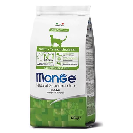 Monge Natural Monoprotein Adult - Coniglio - 1,5kg