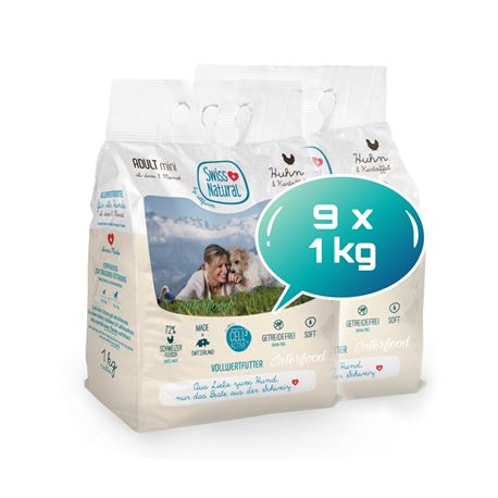 Swiss Natural Soft ADULT mini Huhn & Kartoffel - 9kg 1