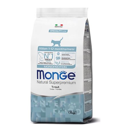 Monge Natural Superpremium Kitten - Trota - 400g