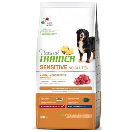 Natural TRAINER Sensitive No Gluten MediumMaxi Adult Agnello - 12kg