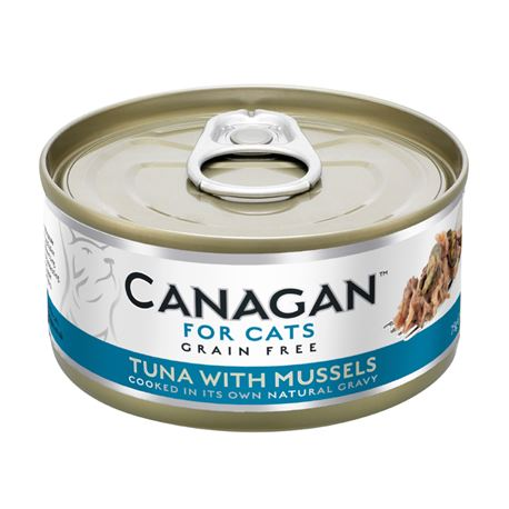 CANAGAN Tuna With Mussels  12x75g