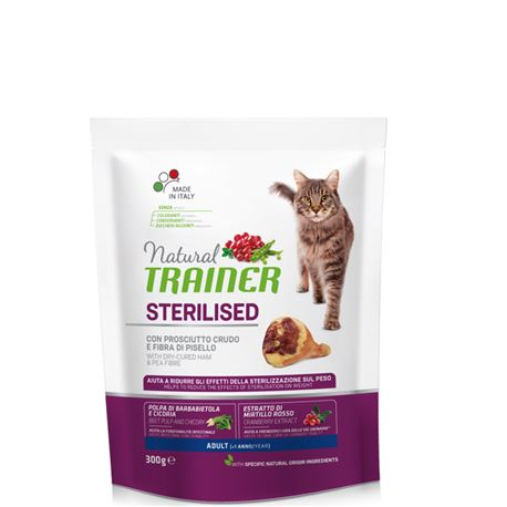 Natural TRAINER Sterilised Adult con Prosciutto Crudo - 300g 1