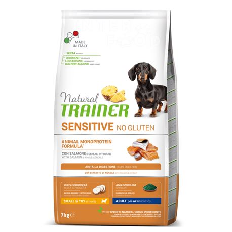 Natural TRAINER Sensitive No Gluten Mini Salmone - 7kg
