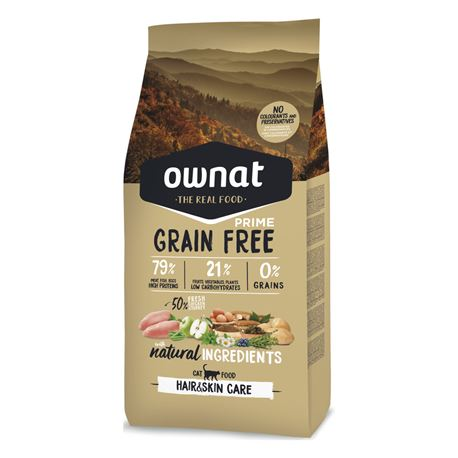 OWNAT Grain Free Prime Hair & Skin Chicken & Turkey - 3kg