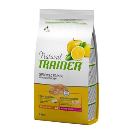 Natural TRAINER Small & Toy - Puppy & Junior con pollo fresco - 2kg