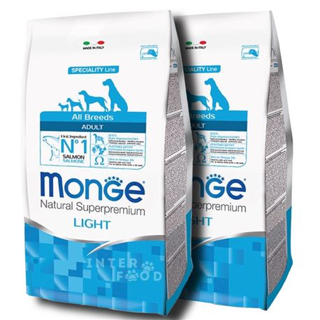 Monge SL All Breeds Light Salmone e Riso - 2 x 12kg 1