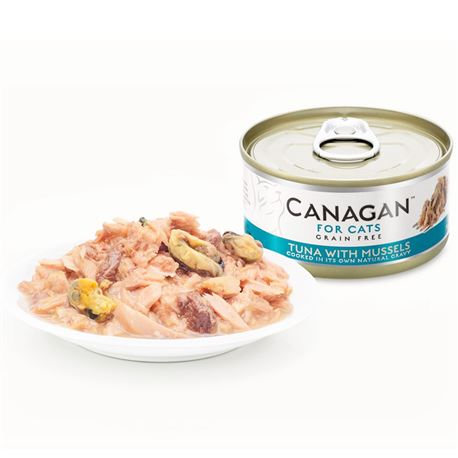 CANAGAN Tuna With Mussels  12x75g 2