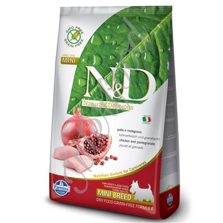 FARMINA N&D - CHICKEN & POMEGRANATE ADULT MINI - 800gr 1