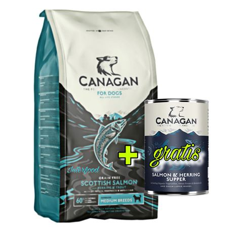 CANAGAN Scottich Salmon 12kg + 1 lattina gratuita 1