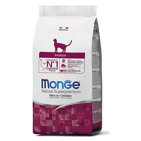 Monge Natural Superpremium Daily Line Indoor ricco di pollo - 1,5kg