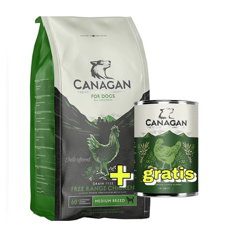 CANAGAN Free-Range Chicken 12kg  + 1 lattina gratuita