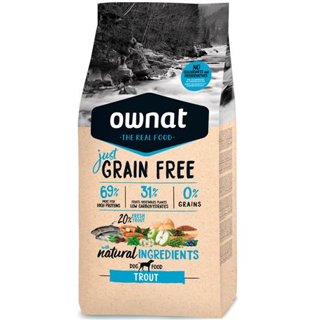 OWNAT Grain Free Just Adult Trout - 14kg