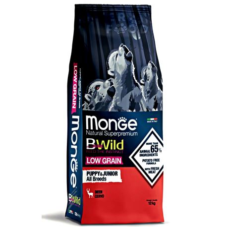 Monge BWild Puppy & Junior 12kg 1