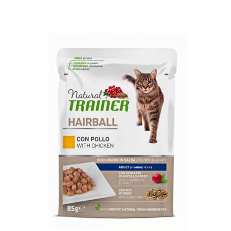 Natural TRAINER Hairball con Pollo - 300g