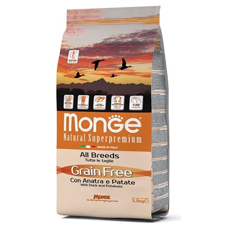 Monge Grain Free Anatra e Patate - All Breed 12kg 1