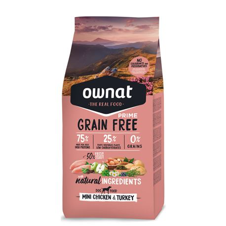 OWNAT Grain Free Prime Mini Chicken & Turckey - 1kg