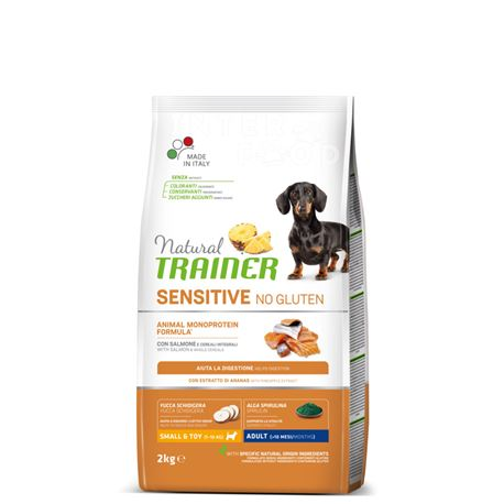 Natural TRAINER Sensitive No Gluten Mini Adult Salmone - 2kg