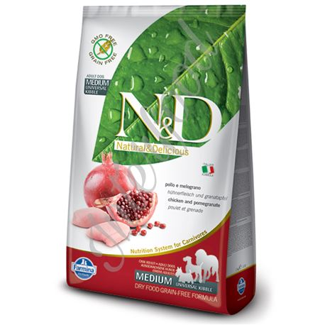 FARMINA N&D - CHICKEN & POMEGRANATE ADULT MEDIUM - 2,5kg 1