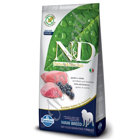 FARMINA N&D - LAMB & BLUEBERRY ADULT MAXI - 12kg 1