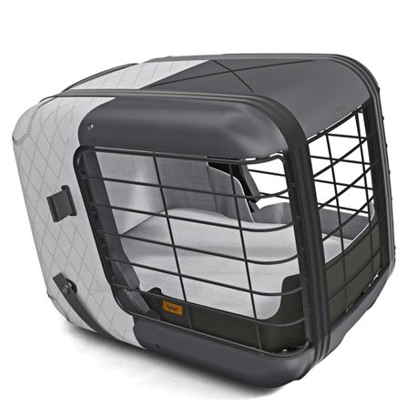 4Pets Caree Cool Grey - gabbia per abitacolo auto