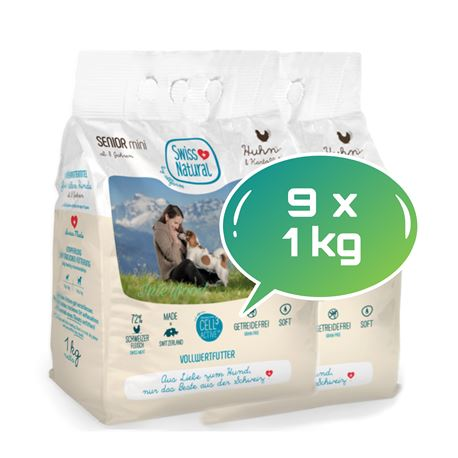 Swiss Natural Soft SENIOR mini Huhn & Kartoffel - 9kg