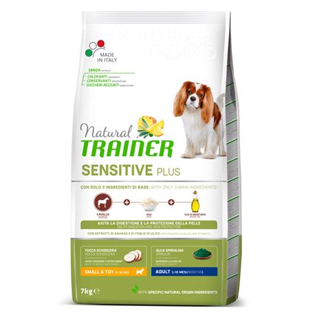 Natural TRAINER Sensitive Plus Small&Toy Adult  Cavallo - 7kg