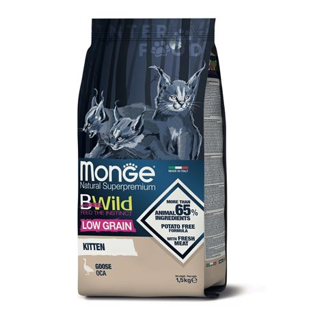 Monge BWild Low Grain Kitten Oca - 1,5kg 1