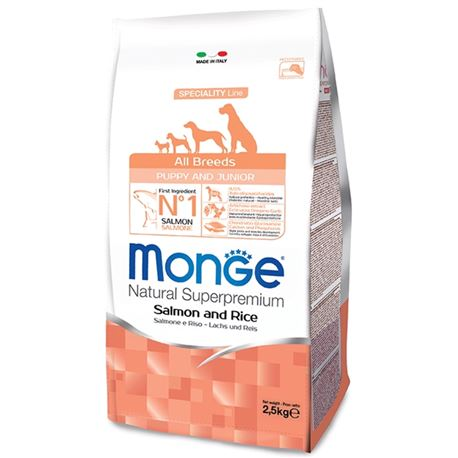 Monge SL All Breeds Puppy & Junior Salmone e Riso 12kg 1