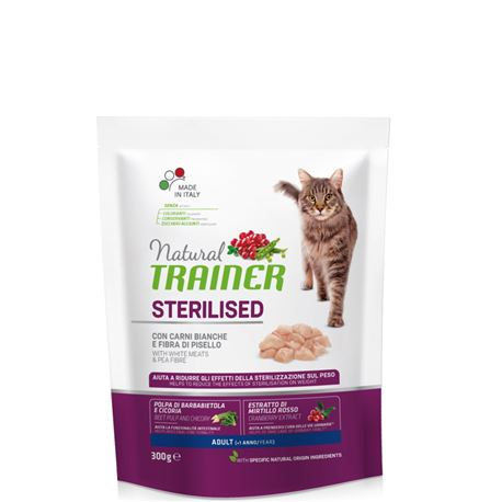 Natural TRAINER Sterilised Adult con Carni Bianche - 300g 1