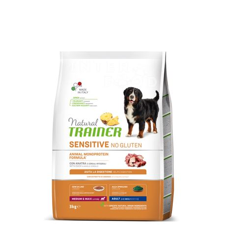 Natural TRAINER Sensitive No Gluten MediumMaxi Adult Anatra - 3kg
