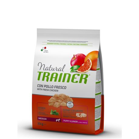 Natural TRAINER Puppy&Junior Medium Pollo - 3kg