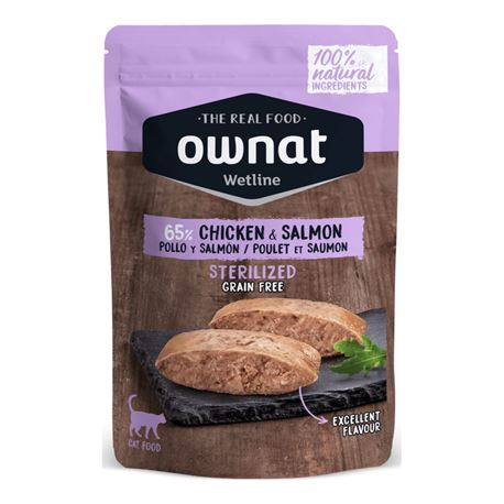 OWNAT WETLINE STERILIZED CHICKEN & SALMON - 85gr