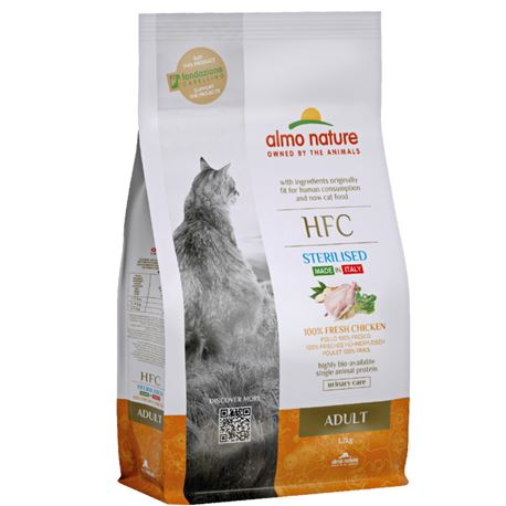 Almo Nature HFC Adult Sterilised - Pollo Fresco - 1,2g