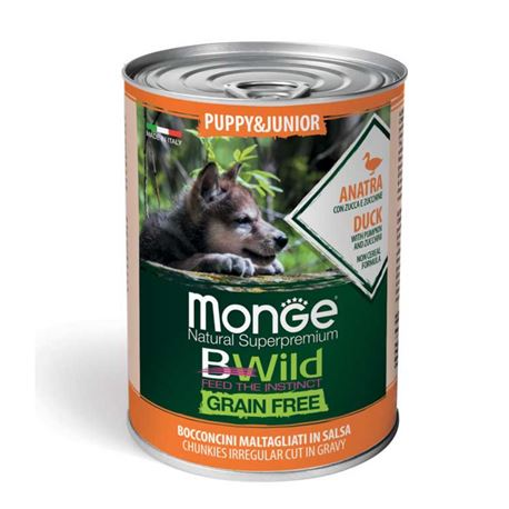 Monge B-Wild Grain Free All Breed Adult Anatra con Patate - 12kg 2