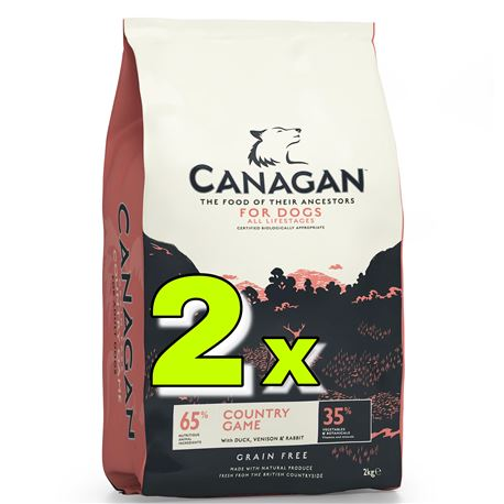 CANAGAN Country Game 2x12kg + 2 x lattine + 1 x biscotti
