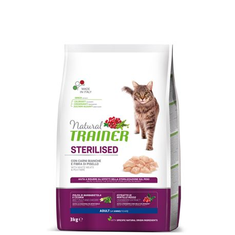 Natural TRAINER Sterilised Adult con Carni Bianche - 3kg 1