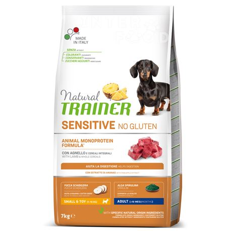 Natural TRAINER Sensitive No Gluten Mini Adult Agnello - 7kg