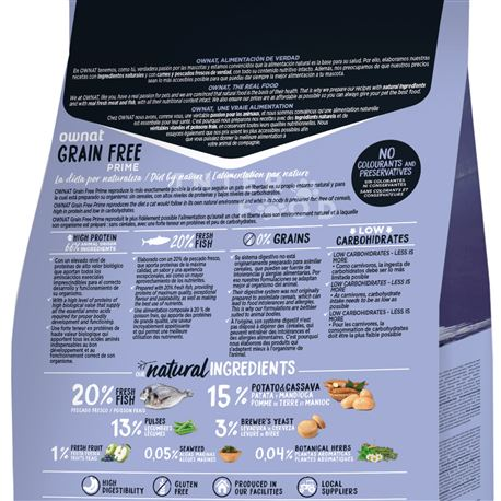 OWNAT Grain Free Prime Sterilized Fish - 3kg 2