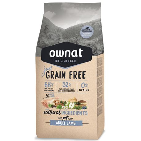 OWNAT Grain Free Just Adult Lamb - 14kg 1