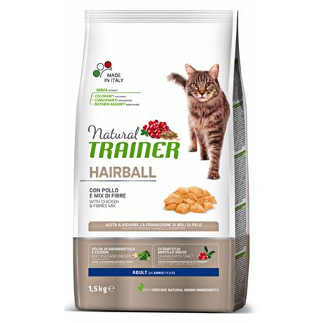 Natural TRAINER Hairball con Pollo - 1,5kg
