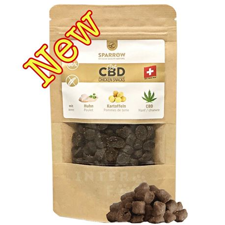 SPARROW Pet CBD - Snack di pollo con CBD - 150g