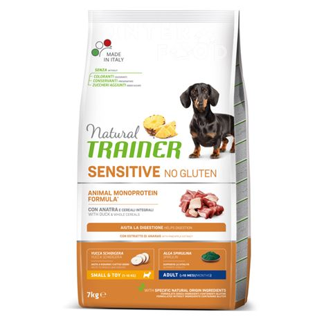 Natural TRAINER Sensitive No Gluten Mini Adult Anatra - 7kg 1
