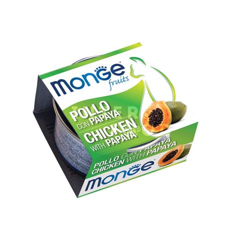 Monge Fruits - Sfilaccetti di pollo con papaya - 80g