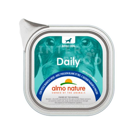 ALMO NATURE Daily No Gluten Recipe con Pesce bianco e riso - 300g
